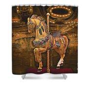 Golden Horse Shower Curtain