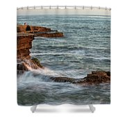 Golden Hour At Sunset Cliffs Shower Curtain