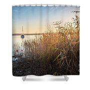 Golden Hour At The Lake Shower Curtain