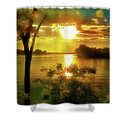 Golden Hour Beautiful Light Shower Curtain
