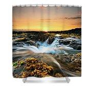 Golden Hour Shower Curtain