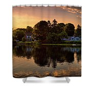 Golden Hour New England Scenery  Shower Curtain