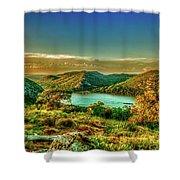 Golden Hour North Point Shower Curtain