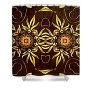 Golden Infinity Shower Curtain