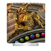 Golden Jester Shower Curtain
