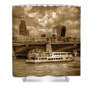 Golden Jubilee Party Boat Shower Curtain