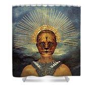 Golden Jungle Queen Shower Curtain