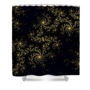 Golden Lace On Black Velvet Shower Curtain