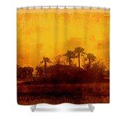 Golden Land Shower Curtain
