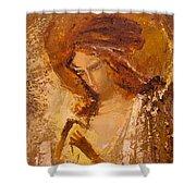 Golden Light Of Angel. Fragment Shower Curtain