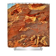 Golden Light On Valley Of Fire Arch Shower Curtain