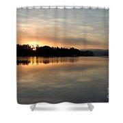 Golden Liquid Dawn Shower Curtain