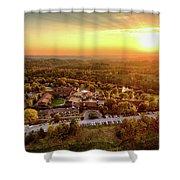 Golden Lodge Shower Curtain