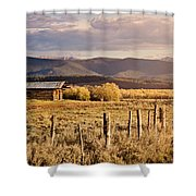 Golden Lonesome Shower Curtain