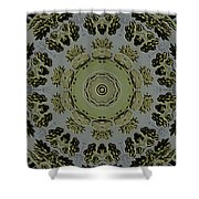 Mandala In Pewter And Gold Shower Curtain