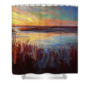 Golden Marsh Shower Curtain