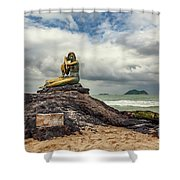 Golden Mermaid Thailand Shower Curtain