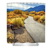 Golden Moments In Mammoth Shower Curtain