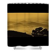 Golden Morning Above The Clouds Shower Curtain