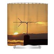 Golden Night Shower Curtain