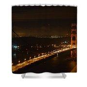 Golden Night View 292 Shower Curtain