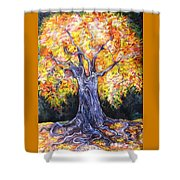 Golden Oak Shower Curtain