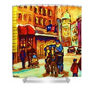 Golden Olden Days Shower Curtain
