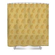 Golden Oldies Wallpaper Shower Curtain