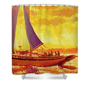 Golden Opportunity Shower Curtain