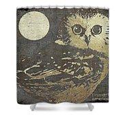 Golden Owl Shower Curtain