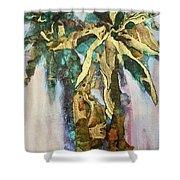 Golden Palm Shower Curtain