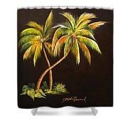 Golden Palms 2 Shower Curtain