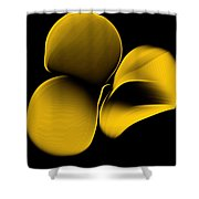 Golden Pantomime Shower Curtain
