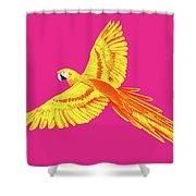 Golden Parrot Shower Curtain