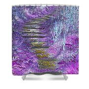 Golden Path Down To Rosslyn Glen Shower Curtain