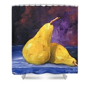 Golden Pears Shower Curtain
