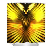 Golden Phoenix Shower Curtain