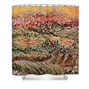Golden Provence Shower Curtain