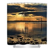 Golden Rays At Sunset Shower Curtain