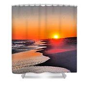 Golden Red Sunset Shower Curtain