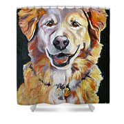 Golden Retriever Most Huggable Shower Curtain