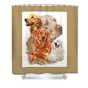 Golden Retriever W/ghost Shower Curtain