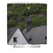 Golden Rooster St Sebastian Church Ehrenthal Germany Shower Curtain