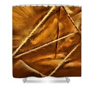 Golden Rope Shower Curtain