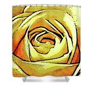 Golden Rose Flower Shower Curtain
