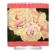 Golden Roses Shower Curtain