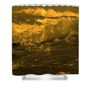 Golden Sea Waves Graphic Digital Poster Art By Navinjoshi At Fineartamerica.com Ideal For Wall Decor Shower Curtain