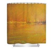 Golden Sky Shower Curtain