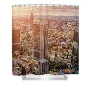 Golden Skyscrapers Of Frankfurt Shower Curtain