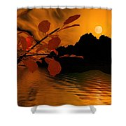 Golden Slumber Fills My Dreams. Shower Curtain